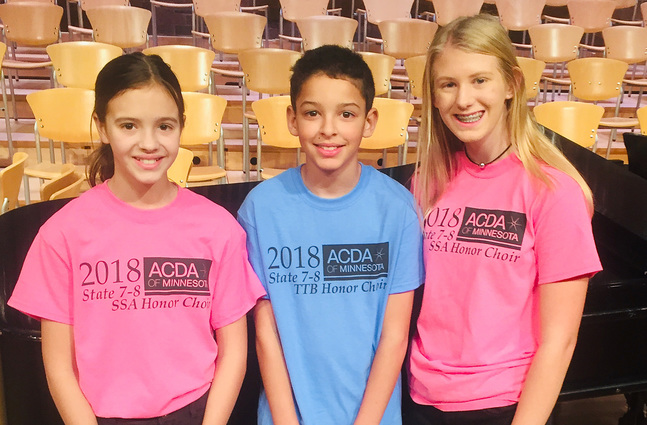 Three singers to state honor choir