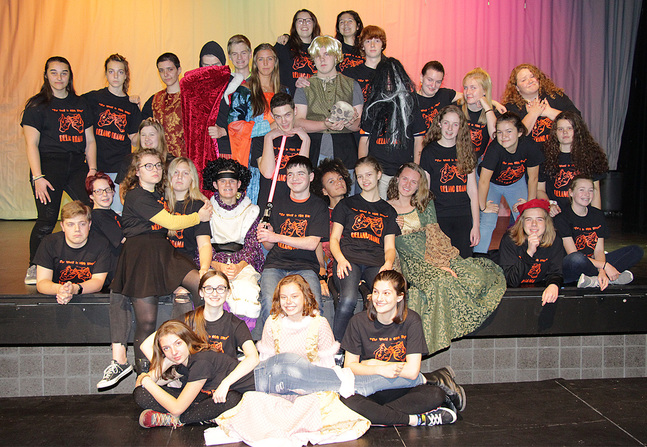 Large cast ready for 'Shakespeare'
