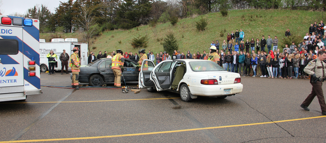 Distracted Driving Focus of Mock Car Crash
